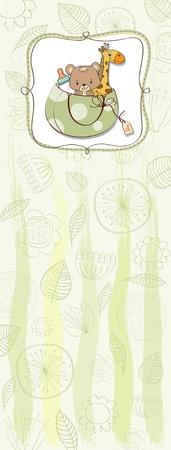 playfulness: baby shower card Illustration