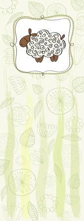baby shower announcement card Ilustração