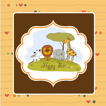 happy zoo Stock Vector - 13423228