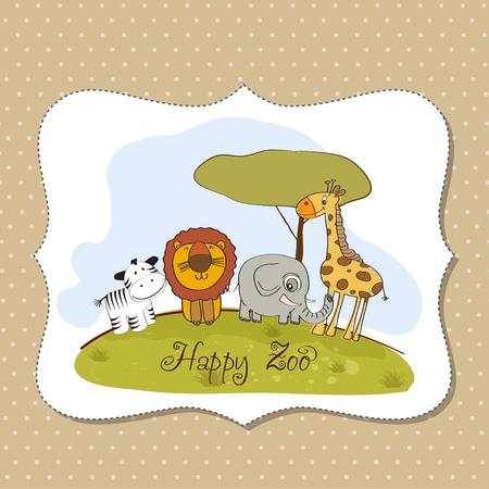 happy zoo Stock Vector - 13423232