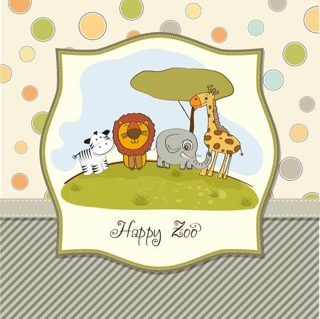 happy zoo Stock Vector - 13423230