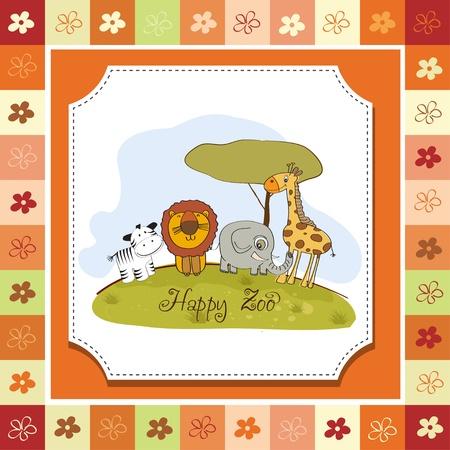 happy zoo Stock Vector - 13423229