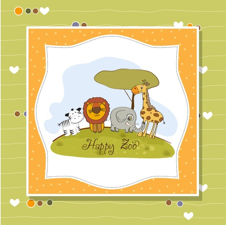 happy zoo  Stock Vector - 13423231