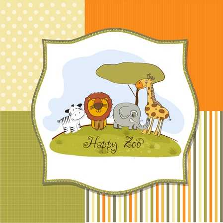 happy zoo  Vector
