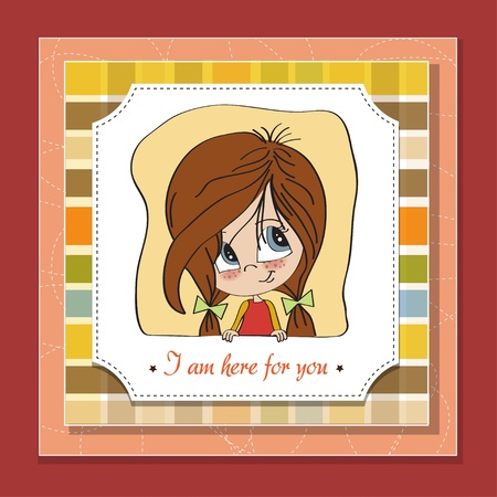 young girl smiling Illustration