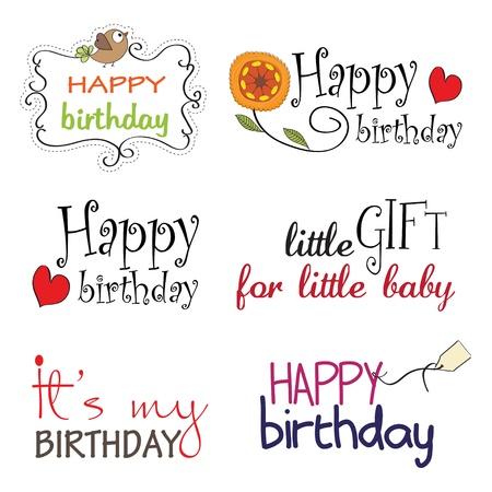 Feliz cumpleaños de la serie letras