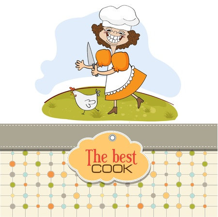 preparing food: the best cook Illustration