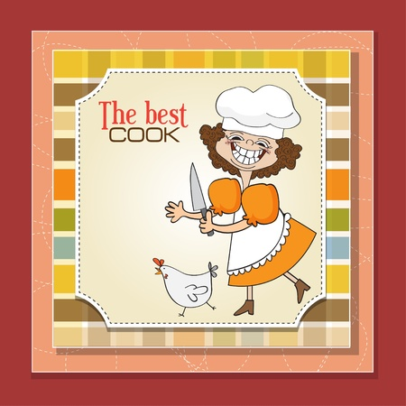 female chef: the best cook Illustration