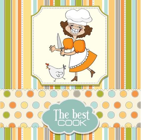 fartuch: najlepszy kucharz Ilustracja