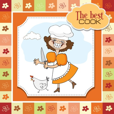 the best cook Vector
