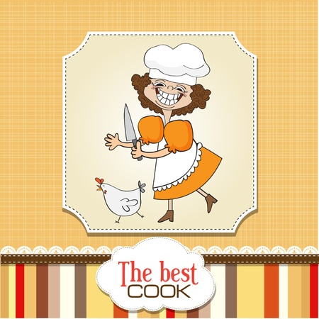 woman knife: the best cook Illustration