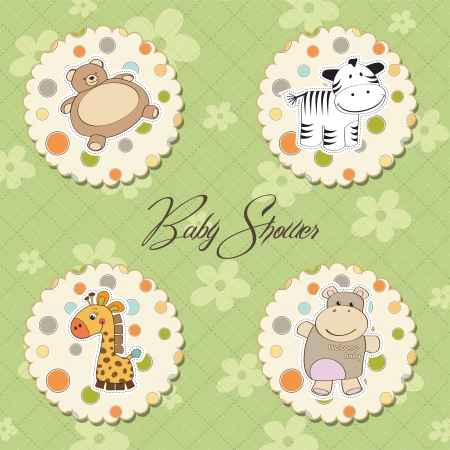 illustration of different toys items for baby  Illustration