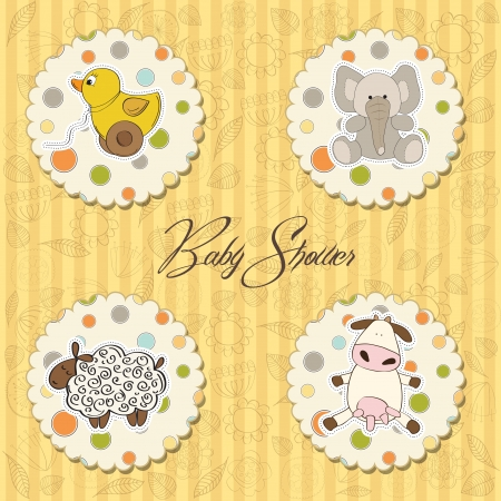 illustration of different toys items for baby Stock Vector - 13637872