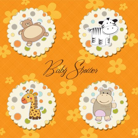 illustration of different toys items for baby Stock Vector - 13637829