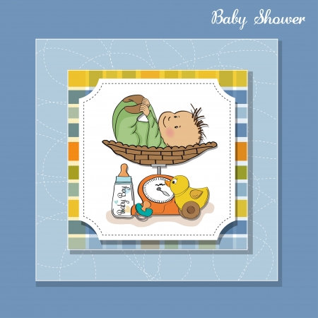 baby boy weighed on the scale Stock Vector - 13661524