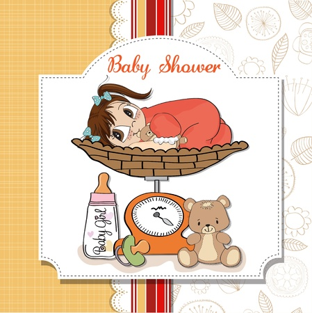 baby girl weighed on the scale Stock Vector - 13661551