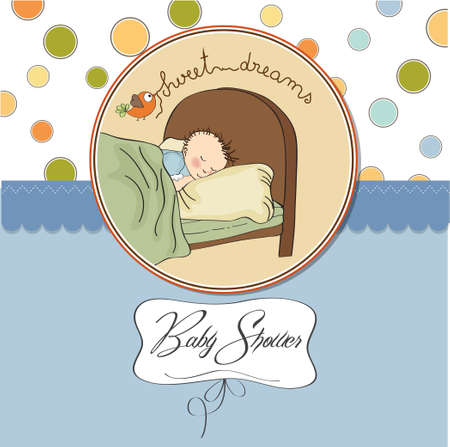 new baby boy arrived Stock Vector - 13697603