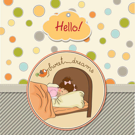 new baby girl arrived Stock Vector - 13697611