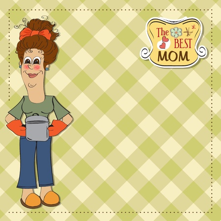 the best mom Vector