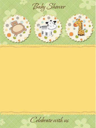 cute baby shower card Vector