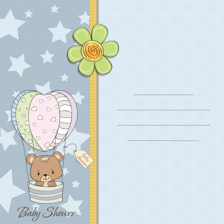 delicate new baby boy announcement card Vector