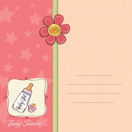 cute baby girls: new baby girl announcement card