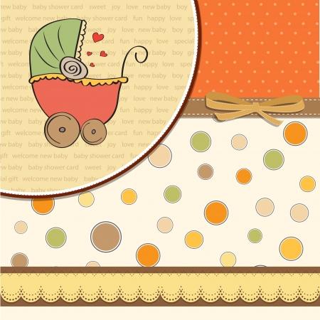 invitacion bebe: beb� anuncio de la tarjeta Vectores