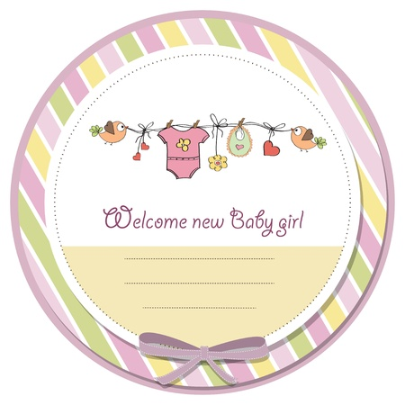 baby girl shower card Stock Illustratie