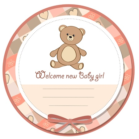 teddybear: baby shower card with teddy