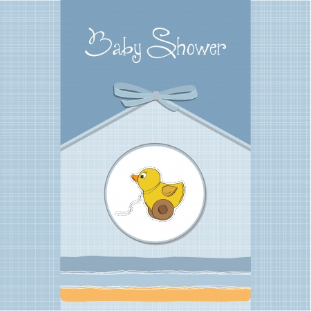 baptism: baby shower card with duck toy
