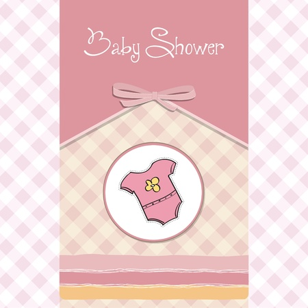 new baby girl announcement card Stock Vector - 14206016