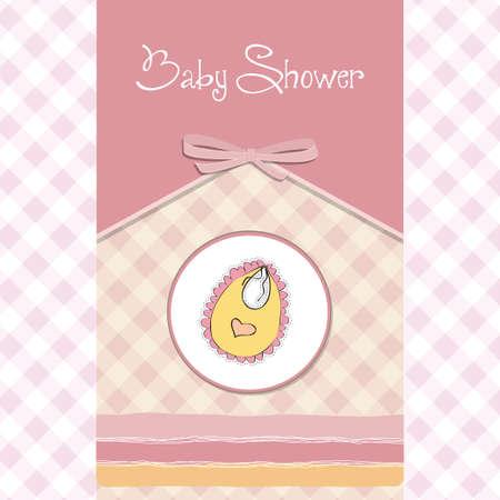 happy birthday girl: new baby announcement card