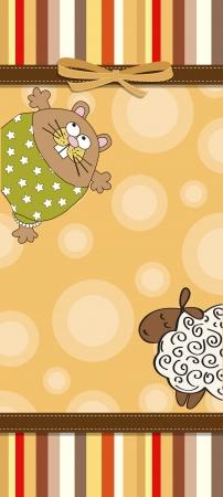 special events: childish cartoon greeting card Illustration