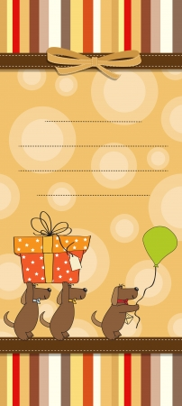 funny cartoon birthday card Vector