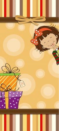 happy moment: funny cartoon birthday card Illustration