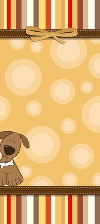 playfulness: childish cartoon greeting card Illustration
