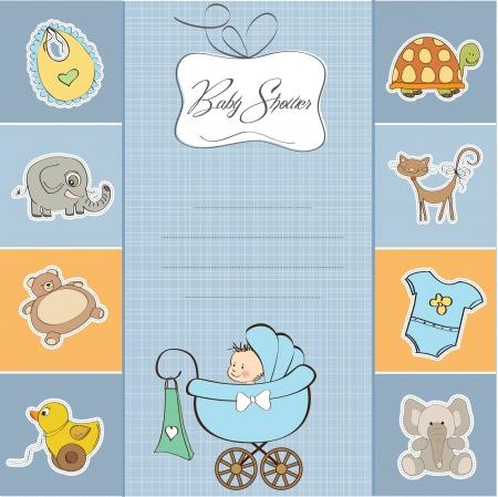 turtles love: baby boy shower card