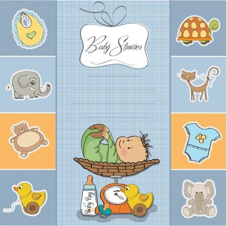 baby duck: divertente baby boy scheda annuncio