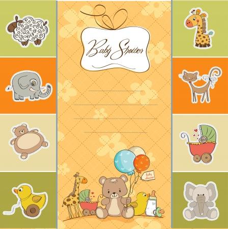 baby shower card 向量圖像