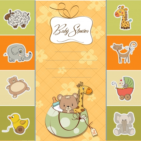 baby shower card Stock Vector - 14285716