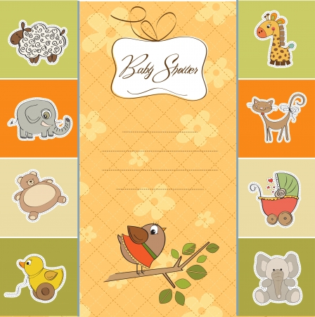 baby shower card Stock Vector - 14285715