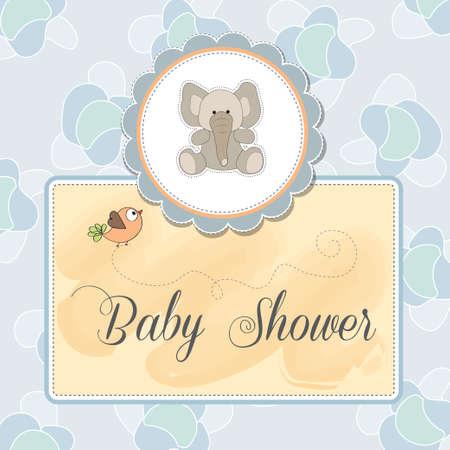 romantic baby announcement card Vector