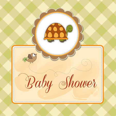 funny baby shower card Vector