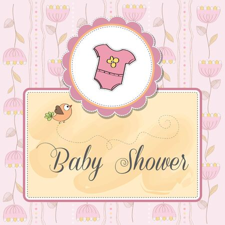 baby girl: new baby girl announcement card