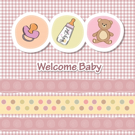 cute baby girls: baby shower card with funny animals