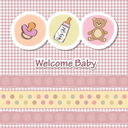 vintage teddy bears: bambino carta di doccia con animali divertenti