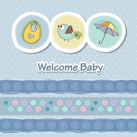 nestling birds: baby shower card with funny animals