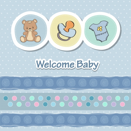 baby shower card with funny animals Vector