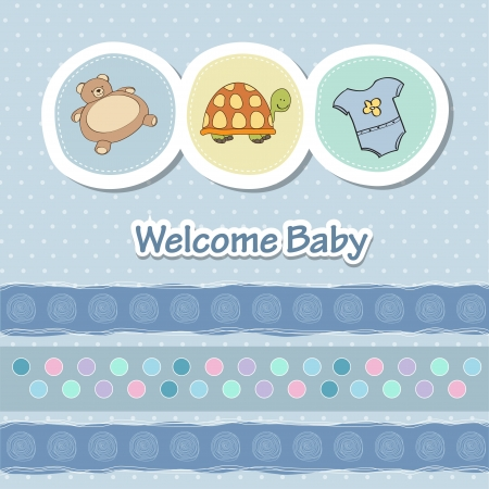 baby shower card with funny animals Stock Vector - 14415822