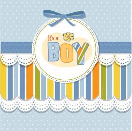 bebe azul: del aviso del beb� tarjeta